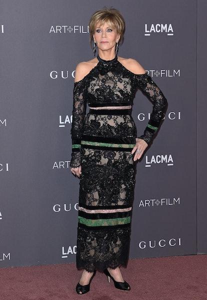Jane Fonda arrives at the 2017 LACMA Art + Film Gala at LACMA in Los Angeles, California in November...