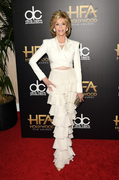 Jane Fonda attends the 19th Annual Hollywood Film Awards at The Beverly Hilton Hotel in Beverly Hill...