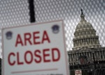 WASHINGTON DC - SEPTEMBER 18  Fencing and closed areas have been put up around the US Capitol in ant...