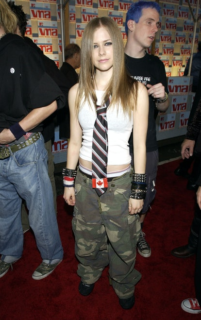 Avril Lavigne at the Radio City Music Hall in New York City, New York (Photo by Kevin Mazur/WireImag...