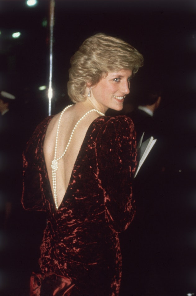 Princess Diana went backless at a movie premiere.