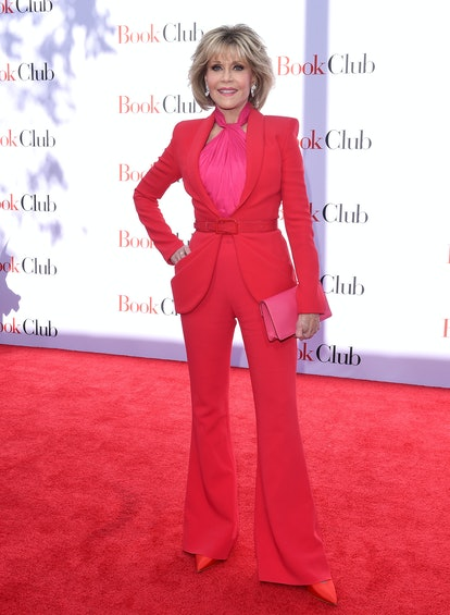 Jane Fonda arrives at the premiere of Paramount Pictures' 'Book Club' at Regency Village Theatre in ...