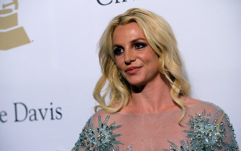 BEVERLY HILLS, CA - FEBRUARY 11:  Singer Britney Spears walks the red carpet at the 2017 Pre-GRAMMY ...