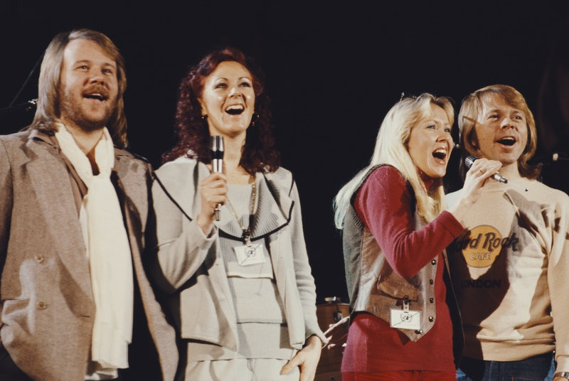 Swedish pop group Abba performing at 'The Music for UNICEF Concert: A Gift of Song' benefit concert ...
