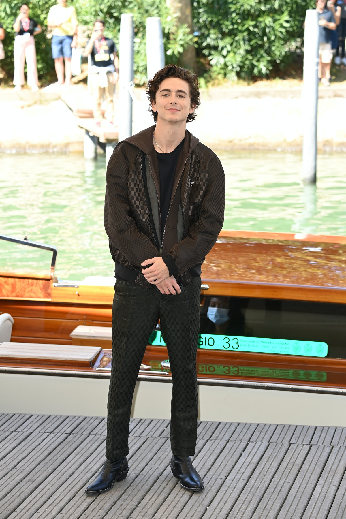 VENICE, ITALY - SEPTEMBER 03: Timothée Chalamet is seen arriving at the 78th Venice International Fi...