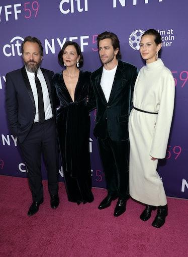NEW YORK, NEW YORK - SEPTEMBER 29: (L-R) Peter Sarsgaard, Maggie Gyllenhaal, Jake Gyllenhaal and Jea...