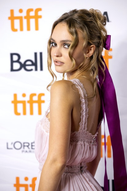 """TORONTO, ONTARIO - SEPTEMBER 17: Lily-Rose Depp attends the """"Wolf"""" Premiere during the 2021 Toronto ..."""