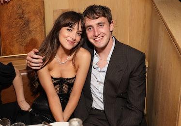 "NEW YORK, NEW YORK - SEPTEMBER 29: (L-R) Dakota Johnson and Paul Mescal attend Netflix's ""The Lost D..."