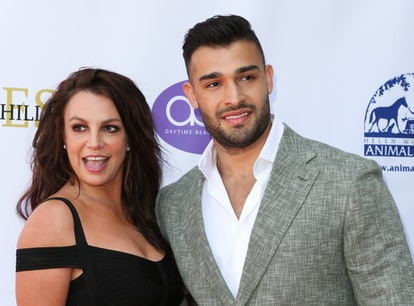 Britney Spears and Sam Asghari at the 2019 Daytime Beauty Awards in Los Angeles, months before Britn...
