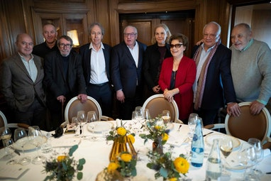 (From L to R) Pierre Assouline, Philippe Claudel, Patrick Rambaud, Pascal Bruckner, Didier Decoin, C...