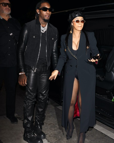 Offset and Cardi B are seen in Paris, France in September 2021.
