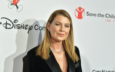 "BEVERLY HILLS, CALIFORNIA - OCTOBER 02:  Ellen Pompeo attends Save The Children's ""Centennial Celebr..."