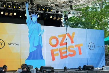 NEW YORK, NY - JULY 21:  A view of OZY Fest 2018 at Rumsey Playfield, Central Park on July 21, 2018 ...