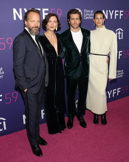 NEW YORK, NEW YORK - SEPTEMBER 29: Peter Sarsgaard, Maggie Gyllenhaal, Jake Gyllenhaal, and Jeanne C...