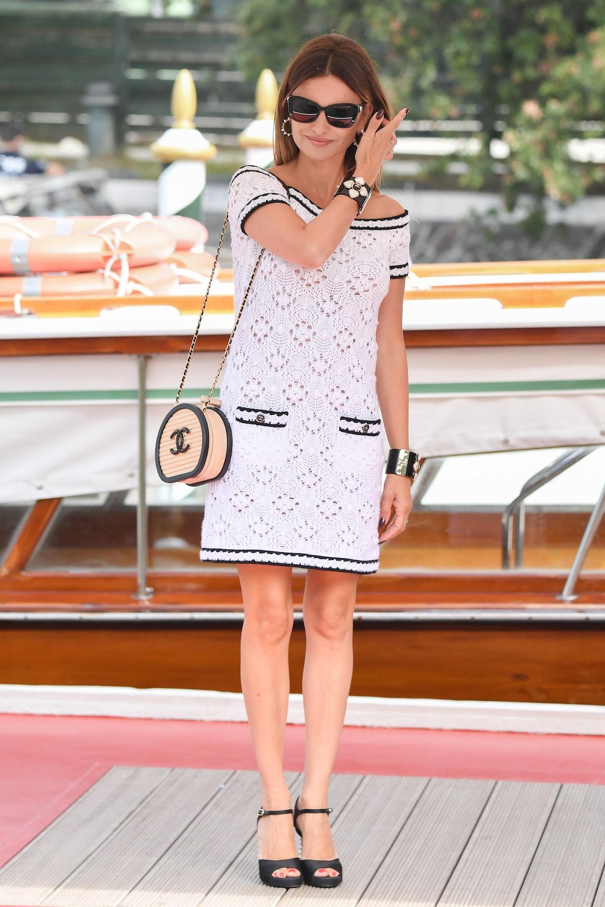 VENICE, ITALY - SEPTEMBER 04: Penelope Cruz is seen arriving at the 78th Venice International Film F...