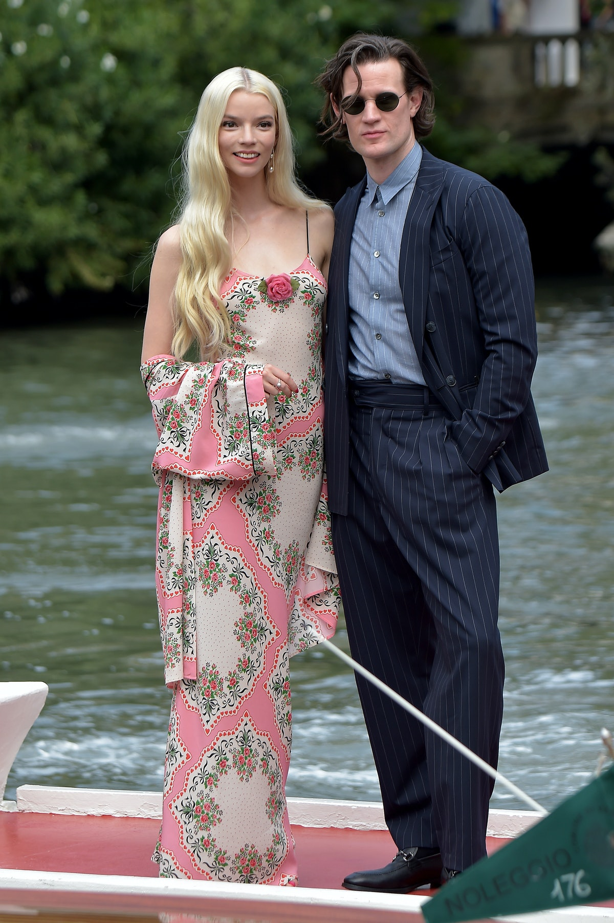 VENICE, ITALY - SEPTEMBER 04: Anya Taylor-Joy and Matt Smith  are seen arriving at the 78th Venice I...