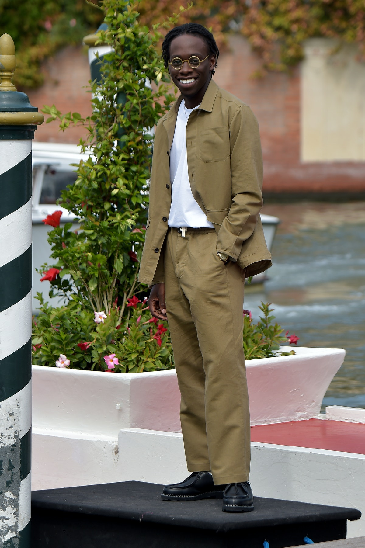 VENICE, ITALY - SEPTEMBER 04: Michael Ajao is seen arriving at the 78th Venice International Film Fe...