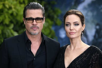 Brad Pitt and Angelina Jolie attending the premiere of Maleficent at Kensington Palace, London.   (P...