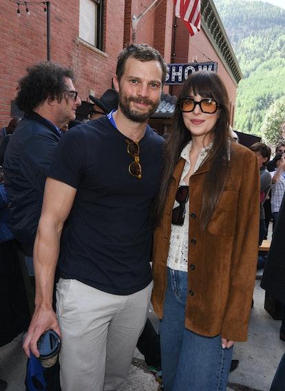 TELLURIDE, COLORADO - SEPTEMBER 04: Jamie Dornan and Dakota Johnson attend the Telluride Film Festiv...