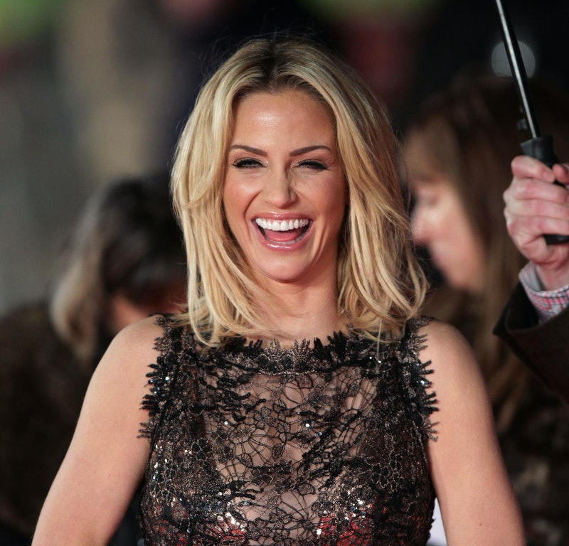 Sarah Harding arriving for the UK film premiere of Run For Your Wife, at the Odeon Leicester Square,...