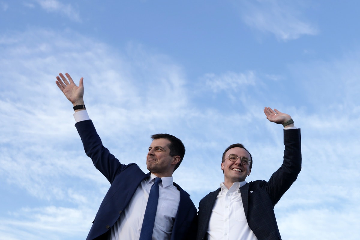 Pete and Chasten Buttigieg posted the first photo of their twin babies.