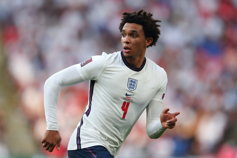 LONDON, ENGLAND - SEPTEMBER 05: Trent Alexander-Arnold of England during the 2022 FIFA World Cup Qua...