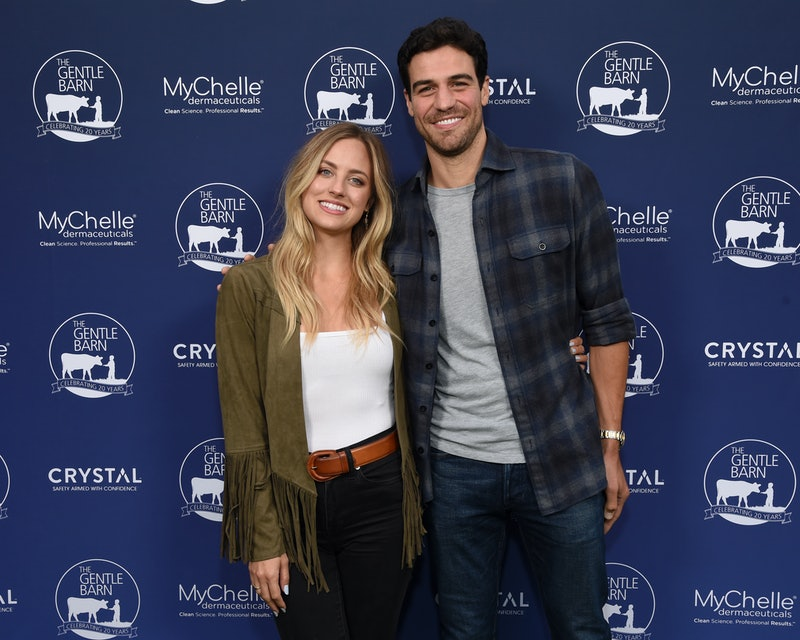 Kendall Long and Joe Amabile pose together at event.  (Photo by Michael Kovac/Getty Images for The G...