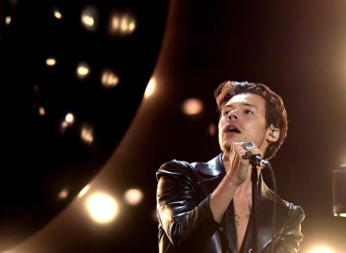 LOS ANGELES, CALIFORNIA: In this image released on March 14, Harry Styles performs onstage during th...