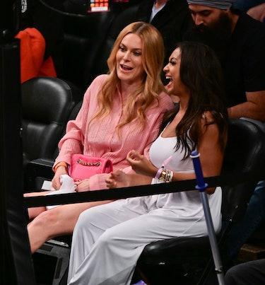 NEW YORK, NEW YORK - JUNE 07:  Leah McSweeney and Eboni K. Williams attend Brooklyn Nets v Milwaukee...