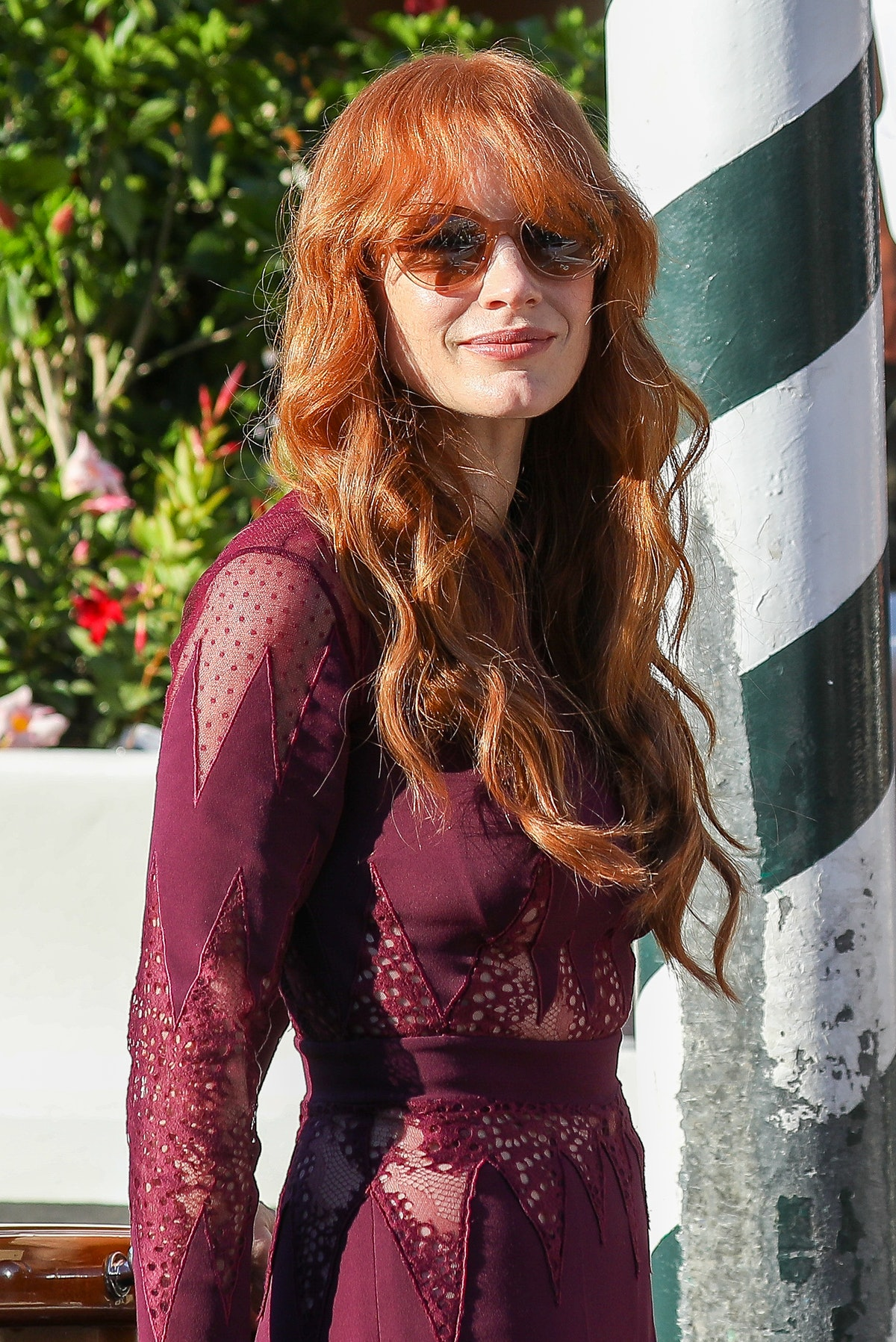 VENICE, ITALY - SEPTEMBER 05: Actress Jessica Chastain arrives at the 78th Venice International Film...