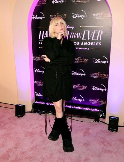 """LOS ANGELES, CALIFORNIA - AUGUST 30: Billie Eilish attends """"Happier Than Ever: A Love Letter To Los ..."""