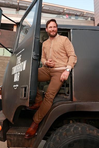 "LOS ANGELES, CALIFORNIA - JUNE 30: Chris Pratt attends the premiere of Amazon's ""The Tomorrow War"" a..."