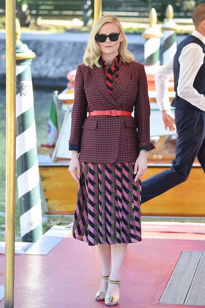VENICE, ITALY - SEPTEMBER 01: Kirsten Dunst is seen arriving at the 78th Venice International Film F...