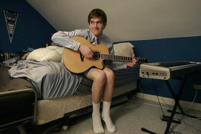 Hamilton, MA - January 29: Bo Burnham, 17, actor, singer, songwriter, poster of hilarious YouTube vi...