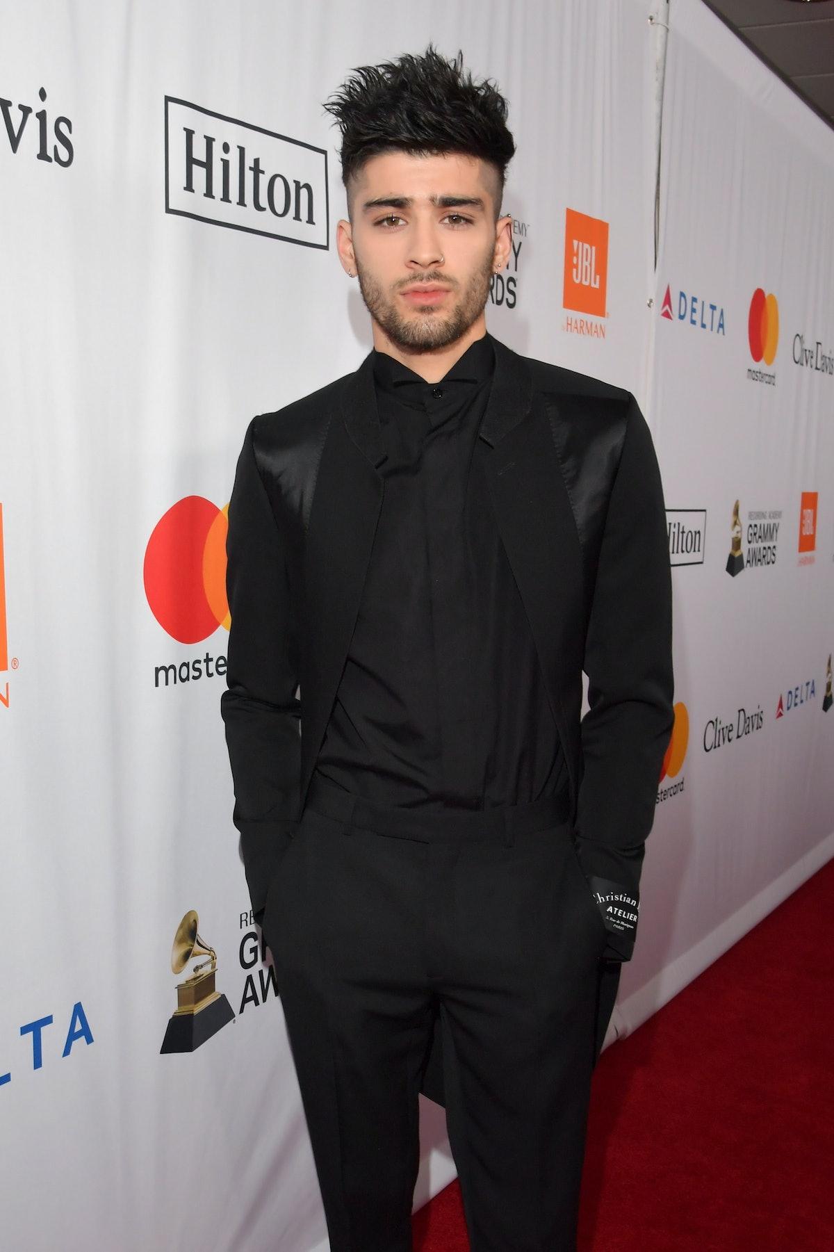 NEW YORK, NY - JANUARY 27:  Recording artist Zayn Malik attends the Clive Davis and Recording Academ...