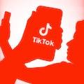 TikTok logo displayed on a phone screen is seen in this illustration photo taken in Krakow, Poland o...