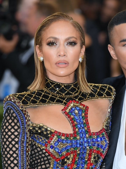 Lopez sported a short and sleek bob at the 2018 Met Gala.