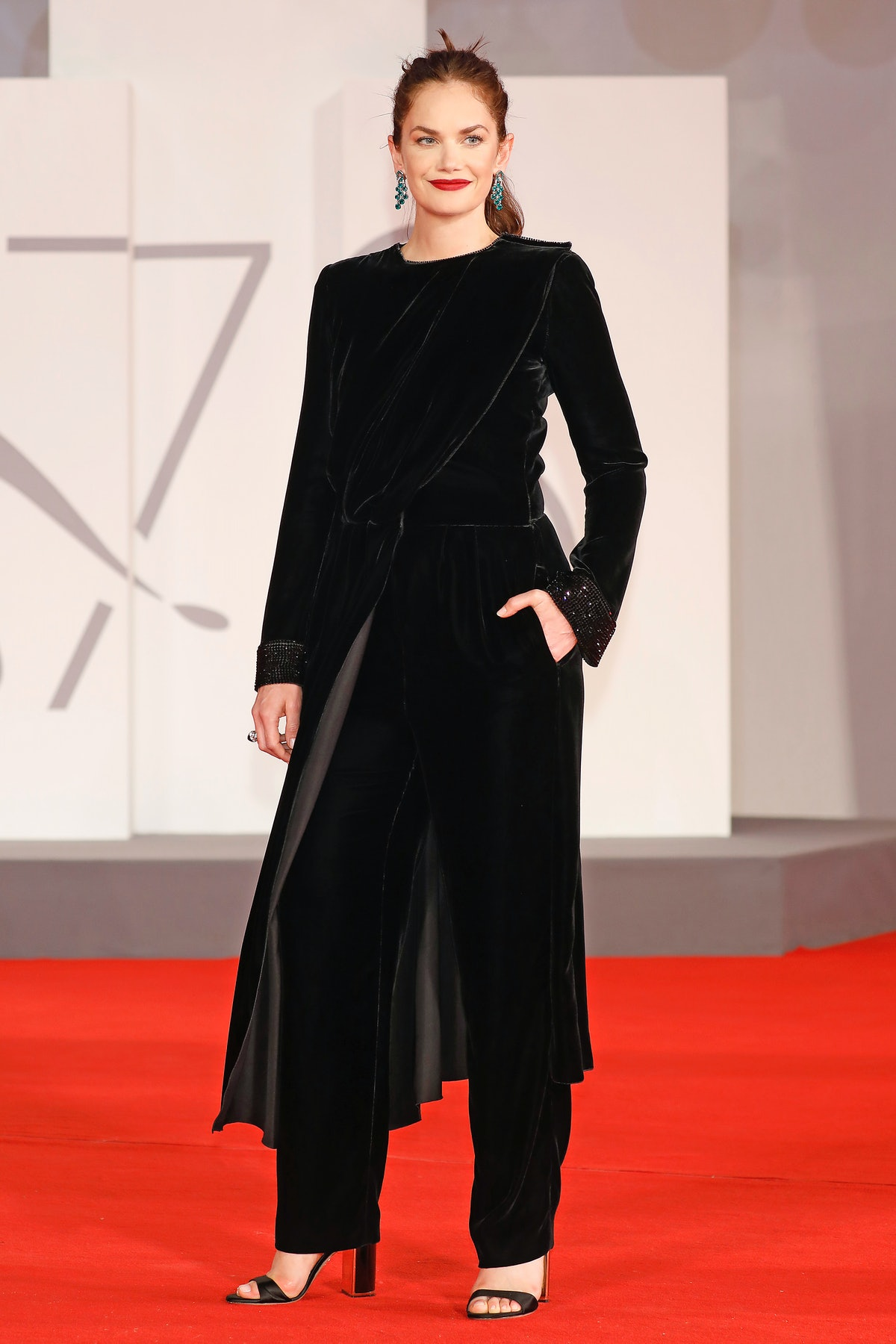 VENICE, ITALY - SEPTEMBER 05, 2021: Ruth Wilson arrives on the red carpet for 'Mona Lisa and the Blo...
