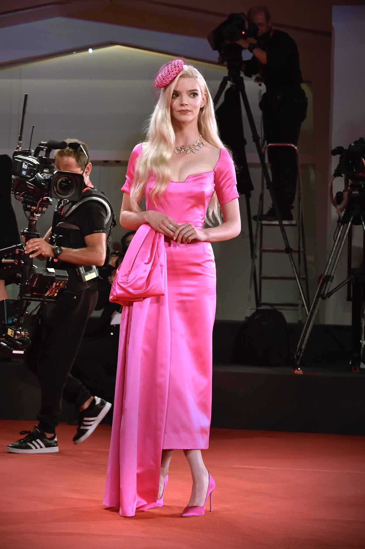 """Anya Taylor-Joy  on the red carpet of the movie """"Last Night In Soho"""" during the 78 Venice Internatio..."""