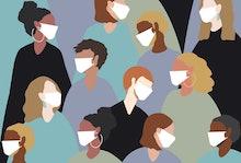 winter, virus, coronavirus, medical mask, face mask, china virus, group, people, women, man, sick, h...