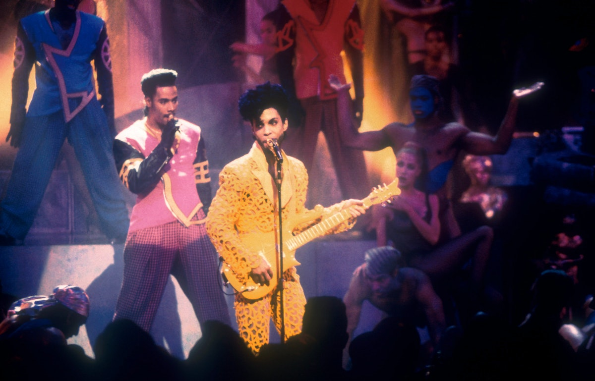 Prince performs at the 1991 MTV Video Music Awards Held in Los Angeles, CA on September 5, 1991. Pho...