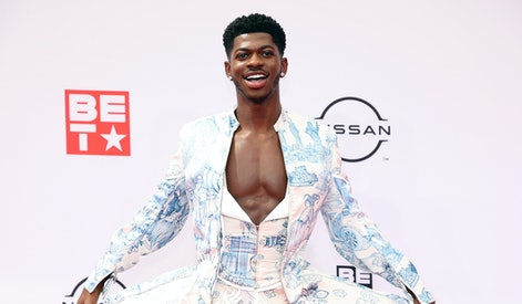 LOS ANGELES, CALIFORNIA - JUNE 27: Lil Nas X attends the BET Awards 2021 at Microsoft Theater on Jun...