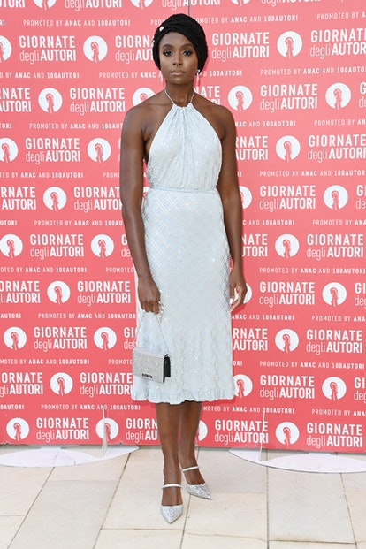 VENICE, ITALY - SEPTEMBER 04: KiKi Layne attends the photocall of MiuMiu Women's Tales during the 78...
