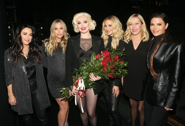 """NEW YORK, NEW YORK - JANUARY 14: (EXCLUSIVE COVERAGE) (L-R) """"The Real Housewives of Beverly Hills"""" K..."""