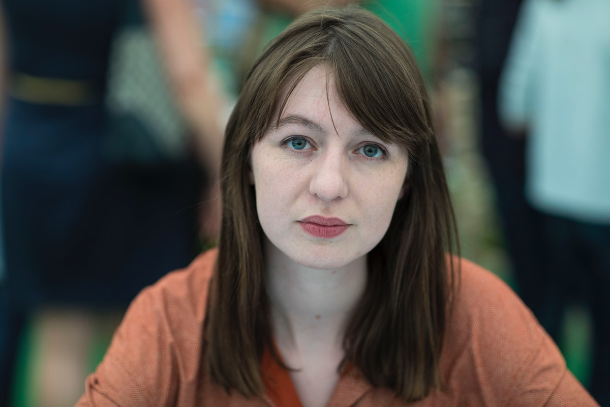 HAY ON WYE, UNITED KINGDOM - MAY 28:  Sally Rooney, novelist, at the Hay Festival on May 28, 2017 in...