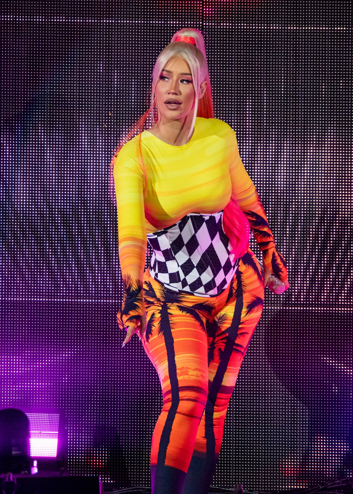 CLARKSTON, MICHIGAN - AUGUST 20: Iggy Azalea performs at DTE Energy Music Theatre on August 20, 2021...
