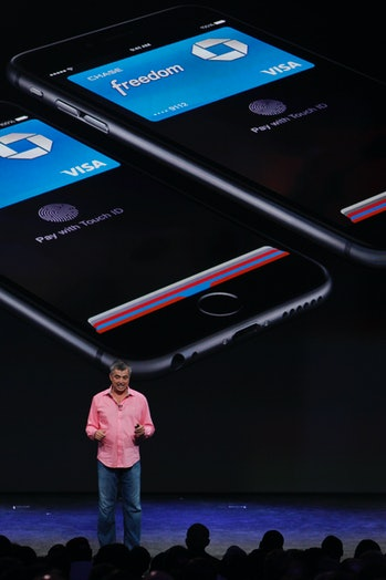 Eddy Cue, Apple senior vice president internet software and services, talks about the Apple Pay duri...