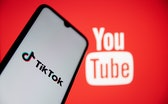 GREECE - 2021/05/11: In this photo illustration a TikTok logo seen displayed on a smartphone screen ...