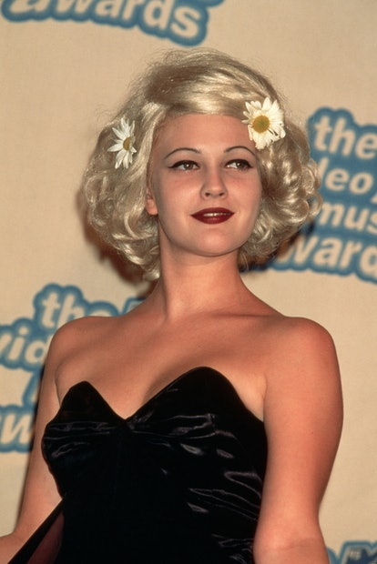 Drew Barrymore's VMAs aesthetic in 1995 was quintessentially '90s.