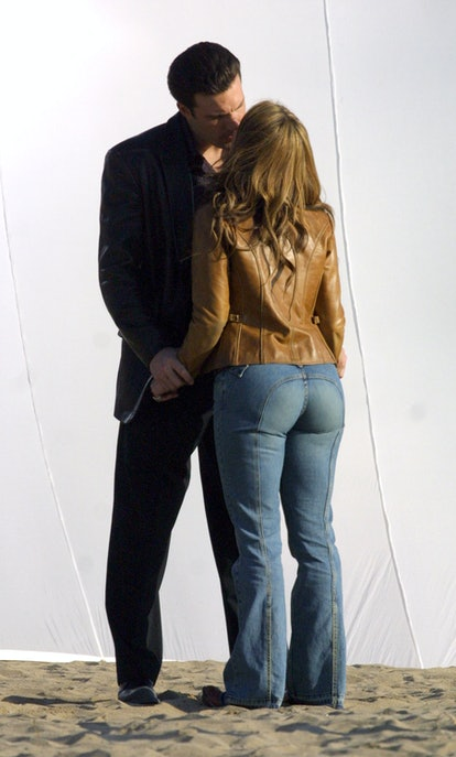 Jennifer Lopez and Ben Affleck fell in love on the set of 'Gigli' in 2002.